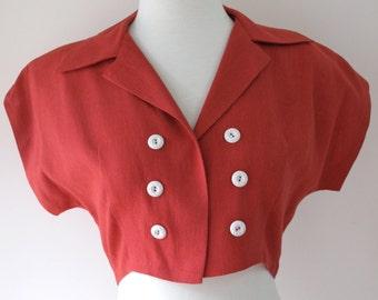 1940s Red Bolero