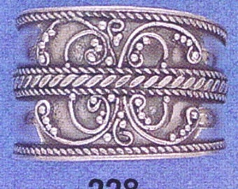 Sterling ,Silver,925, Bali, Band Ring,Ring Size US # 6-12