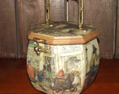 Anton Pieck Wooden Octagon Purse