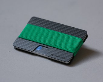 Slim wallet, carbon fiber wallet, credit card wallet, women and men wallet , minimalist wallet, modern design Elephant Wallet