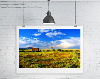Small Town Life, Galisteo, New Mexico - Landscape Wall Art