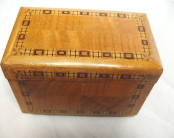 1920s Banded Inlaid Cigarette Box