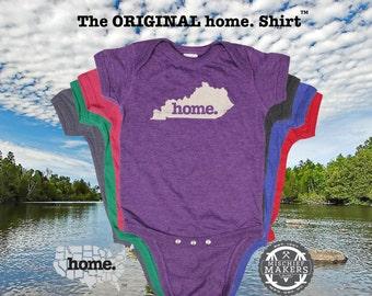 Kentucky home Baby Bodysuit purple green pink denim blue green