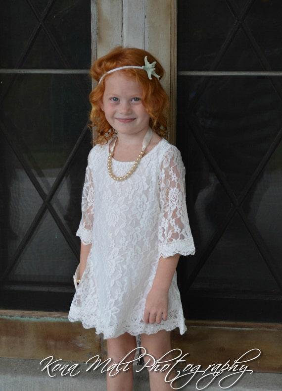 Special Set -The Autumn Lace Flower Girl Dress and Pearl Bracelet for toddlers & girls sizes 1T,2T,3T,4T,5T,6,7/8,9/10,11/12,13/14