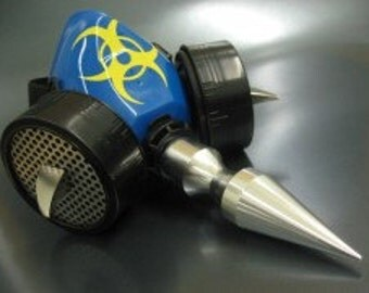 Blue Respirator with Massive Spike