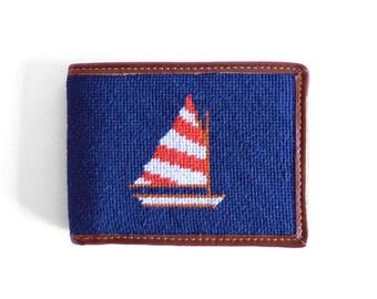 Sailboat Needlepoint Wallet