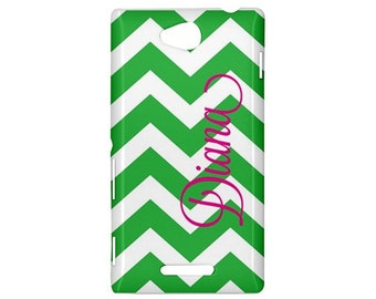 SALE-Personalized Sony Xperia C (S39h) Phone Case- Mix and Match Design