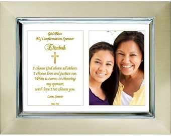 Custom Confirmation Sponsor Gift  - Personalize with Name and Date - Add Photo
