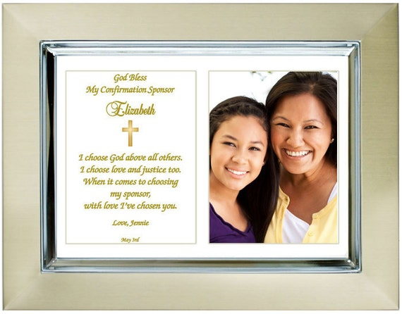 Gifts For Wedding Sponsors: Custom Confirmation Sponsor Gift Personalize With By