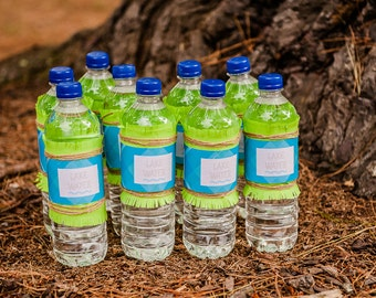 Camping / Camp Water Bottle Label / Camping Party - INSTANT DOWNLOAD
