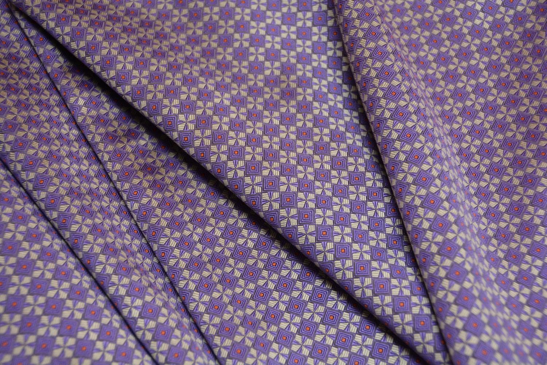 Vintage Silk Jacquard Necktie Fabric Yardage Italian Silk