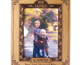 Family Personalized Wood Picture Frame
