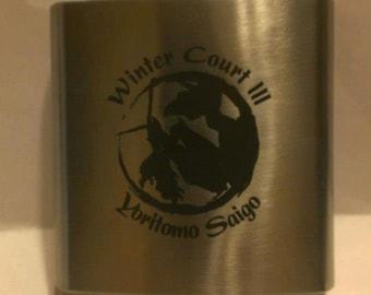 Stainless Steel Flasks, Custom Engraved