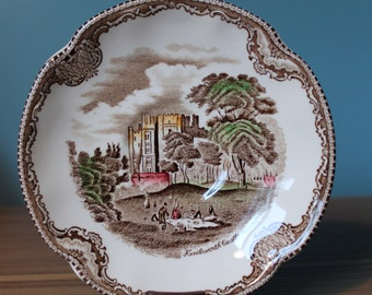 Johnson Bros., Brothers,  Old Britain Castles Brown Round Saucers