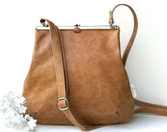 "berlin leather bag ""CARAMELL"" Kaa"