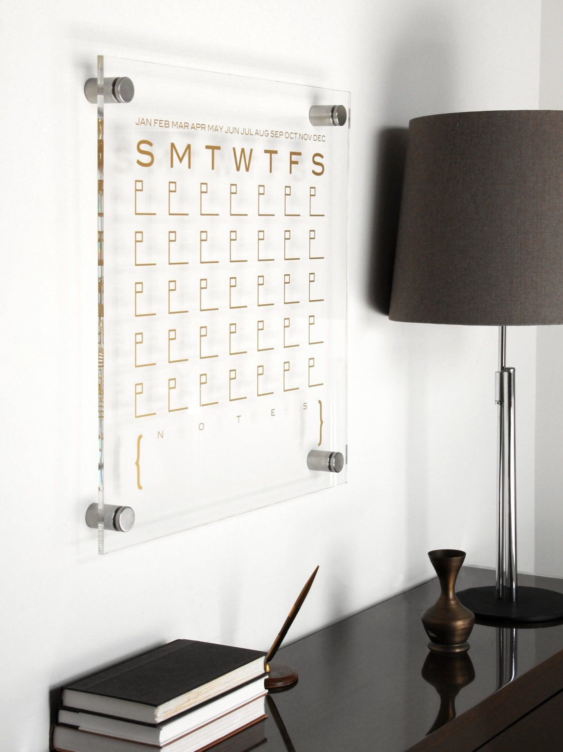 Office Calendar Board : Dtbd pure wall calendar petite lucite white board dry