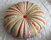 "Jellyroll Floor Cushion ""Honey+Sweet"""