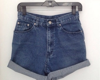 Vintage jean shorts for men or women denim shorts high waisted shorts high rise