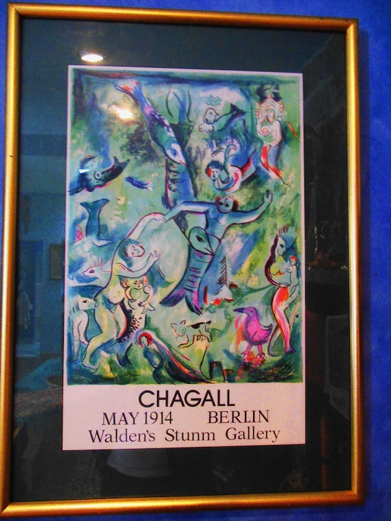 D Printing Exhibition Berlin : Vintage chagall exhibition poster from walden s