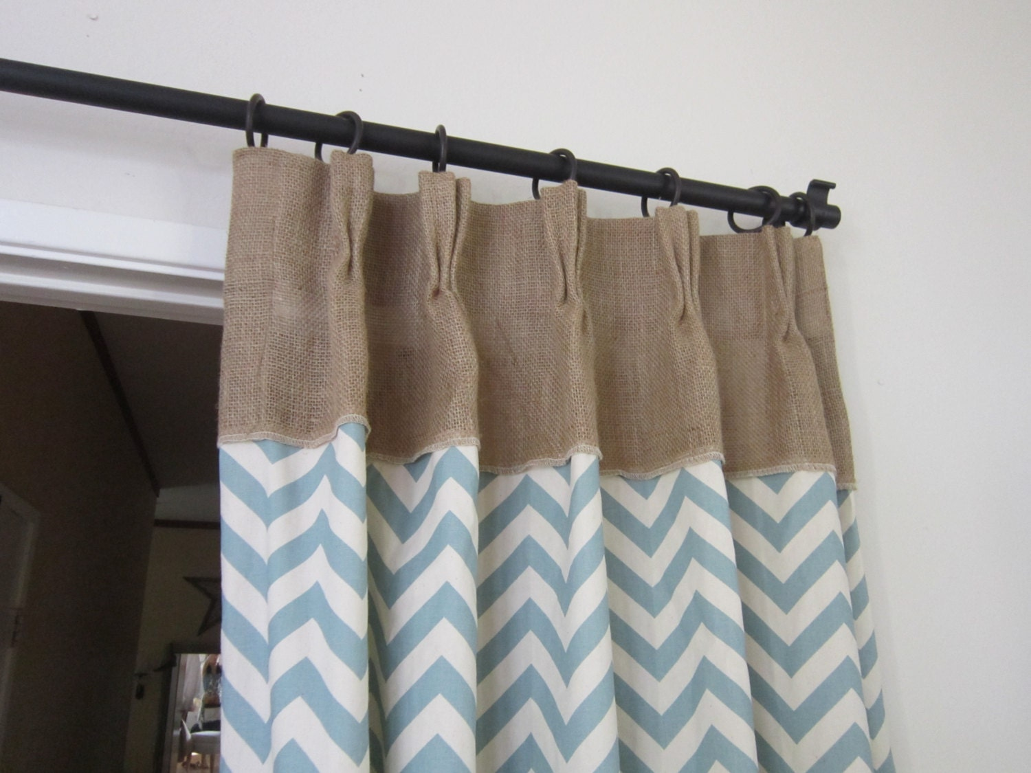 Rustic curtains and drapes -  Zoom