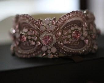 Bridal sashes and belts - Rosegold ( 1 qty ready to ship)