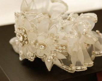 Bridal garter set - Sunflower (Made to Order)