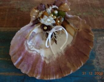 Beach Wedding Seashell Ring Holder, Ring Holder, Beach Wedding