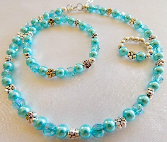 REDUCED PRICE Little Girls Jewelry Set Bluelagoon
