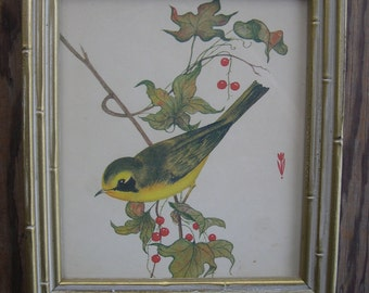 a charming Yellow Bird print