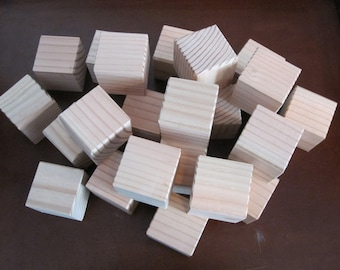 "Set of 30 -  2"" x 2""  Wood Blocks, Alphabet Blocks, Great for Baby Showers"