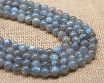 "0139 8mm A grade labradorite round gemstone loose beads 16"""