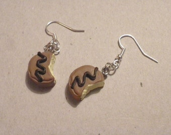 Earrings  Bitten chocolate/birthday mothers day present/charm/novelty gift SALE