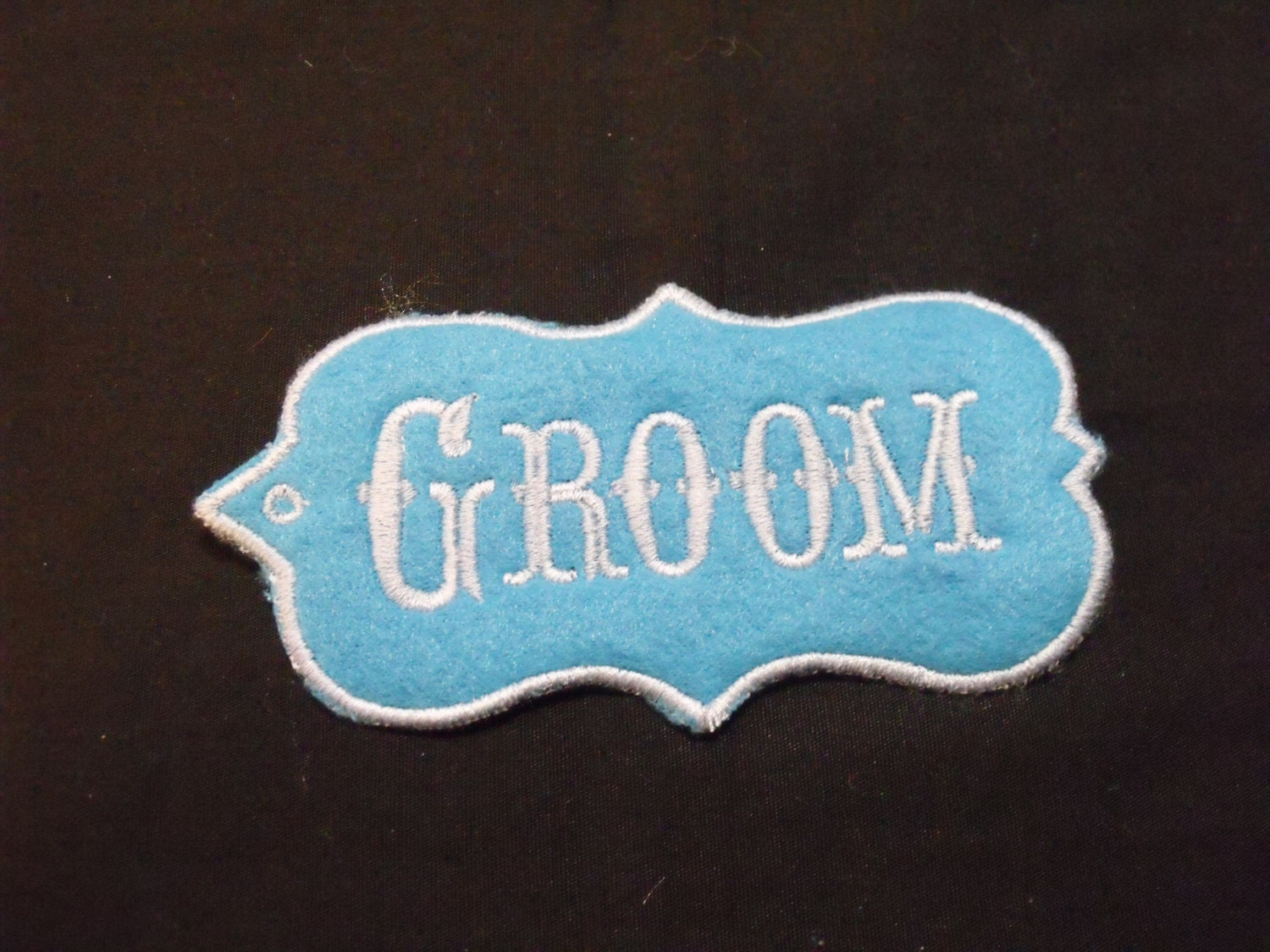 Bride and groom tags embroidered bride and groom name tags bride and groom tags embroidered bride and groom name tags bride and groom table markers customized bride and groom name tags sciox Images