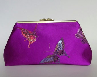 Multicolor Butterfly Purse