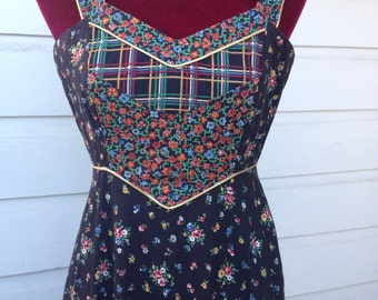 Boho chic vintage Gunne Sax sundress. S in todays sizing.