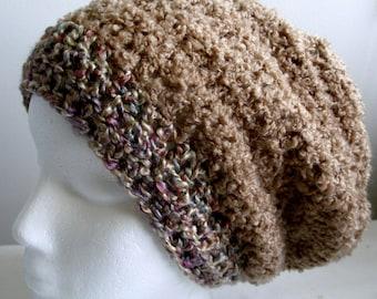 Beige Slouchy Beige Slouchy Hat Beige Crocheted Slouchy Caramel Slouchy Hat Caramel Crocheted Slouchy Hat