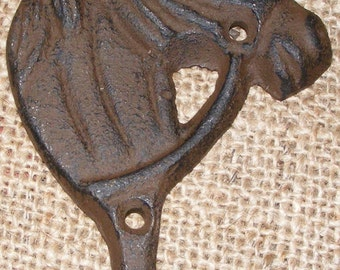 Wall Hook Horse Head Rustic Cast Iron Hanger Western Ranch Barn House Home Decor Cowboy Crafts #404