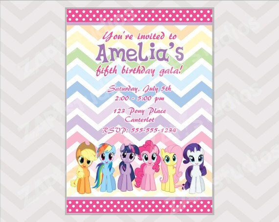 Similiar Little Pony Invitations Printable Keywords – Free Printable My Little Pony Birthday Invitations