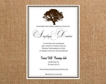 wedding invitations Autumn tree wedding invite