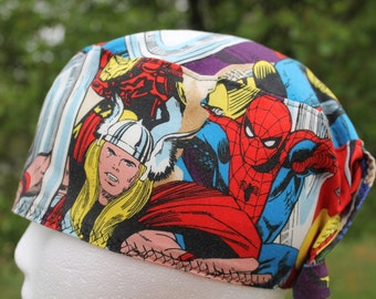 Mens scrub hat/ super hero/ marvel comic