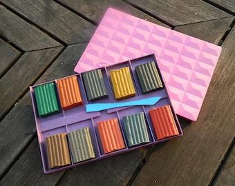 UNUSED Plastilin - Modeling Clay - Set of 10 Plastilin Stick -  made in USSR - Soviet school