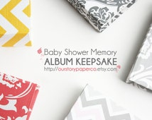 Baby Shower Memory Keepsake Album. baby shower present. new mom. baby book. expecting parents. baby shower. newborn. pregnancy journal