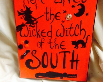 Wicked Witch of The South Mixed Media Painting