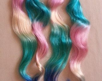 "18"" 100grs,100s,Nail (U) Tip Pastel Human Hair Extensions # Paradise"