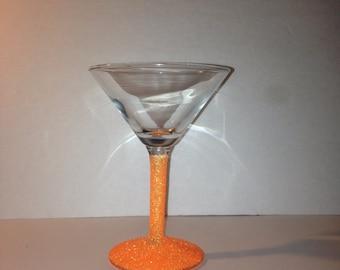 Summer orange martini glass