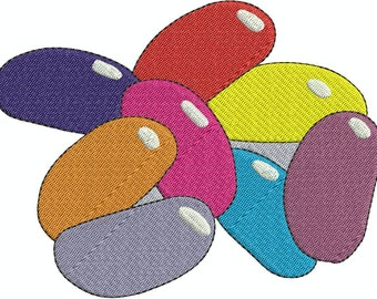 Jelly Beans Machine Embroidery Fill and Applique