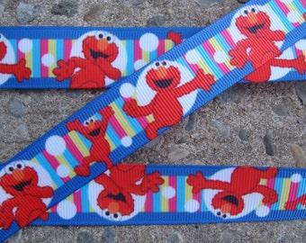 """Elmo Ribbon 3 yards Color Dots Elmo Printed Ribbon 7/8"""" ribbon hair bow ribbon"""
