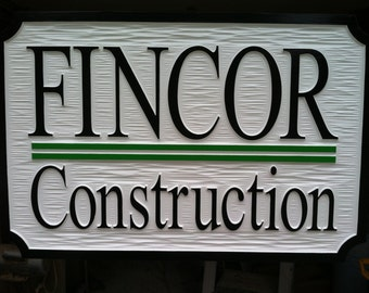 Custom Carved Business Signs - Custom Carved Dimensional HDU Signs Wood Signs