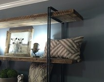 SALE! 25% Off . Black Friday Sale - Reclaimed Wood Bookcase Shelving Unit Reclaimed Wood Modern Industrial Storage