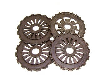 Iron Alchemy Lot of 4 Industrial Iron Wheels Gears
